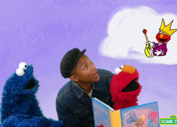 Watch Pharrell teach Elmo, Cookie Monster and your kids about reading on Sesame Street