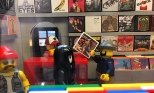 Someone made a record store out of Lego and we want to go