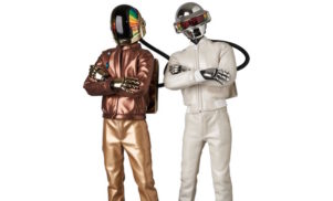 These Daft Punk action figures come with light-up helmets