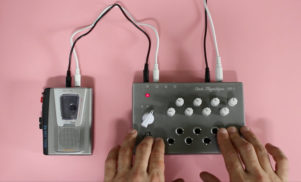 This synth hacks a cassette player to make warped sounds