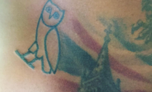 Skepta got an OVO owl tattoo