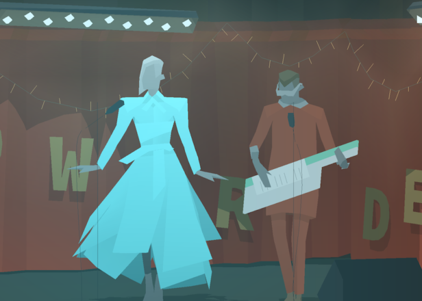 The android musicians from Kentucky Route Zero are releasing an album