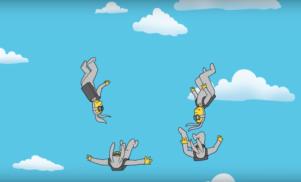 Lindstrøm soundtracks animated skydivers in kaleidoscopic 'Closing Shot' video