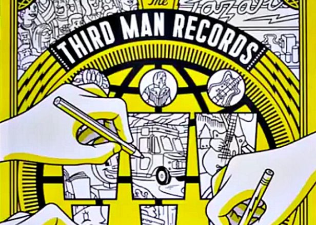 A Vinyl Themed Colouring Book Is Out On Jack Whites Third Man Records