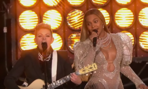 Beyoncé went full country for this 'Daddy Lessons' performance with the Dixie Chicks