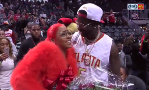 Watch Gucci Mane propose to his girlfriend live on kiss cam
