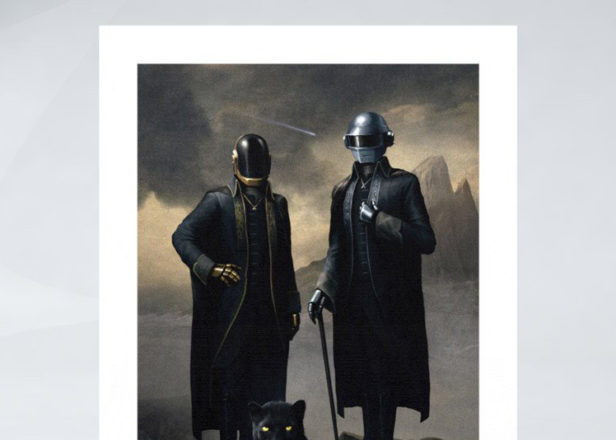 """Daft Punk release limited edition """"archival ink"""" portrait painting"""