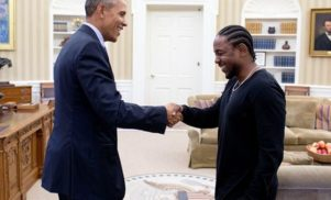 Kendrick Lamar has challenged Barack Obama to a basketball showdown in Compton