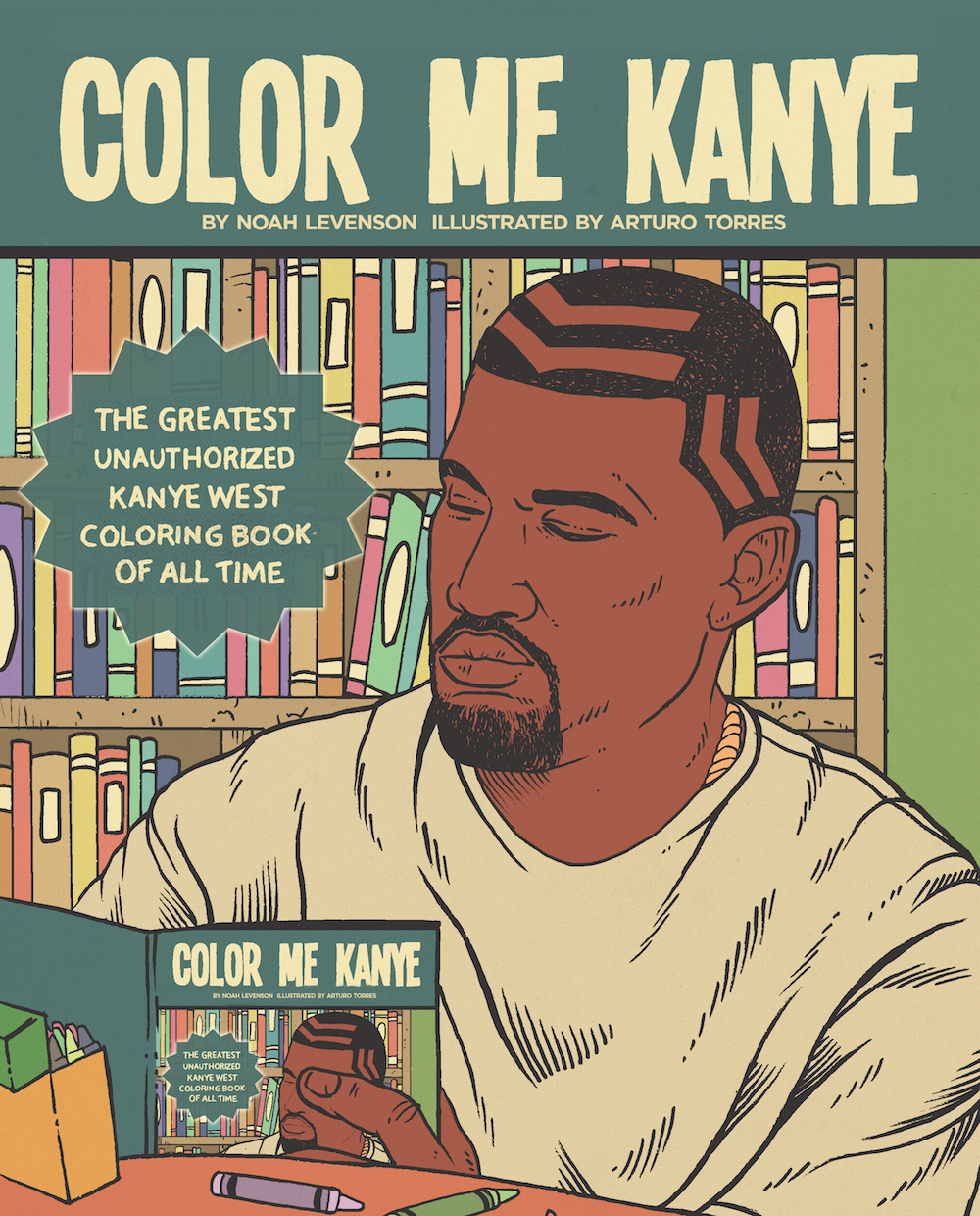 See Kanye Stop An Asteroid Take A Balloon Ride And More In This Incredible Coloring Book