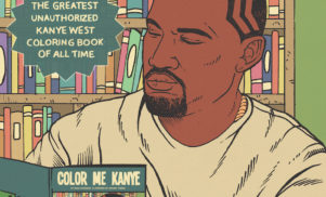 See Kanye stop an asteroid, take a balloon ride and more in this incredible coloring book