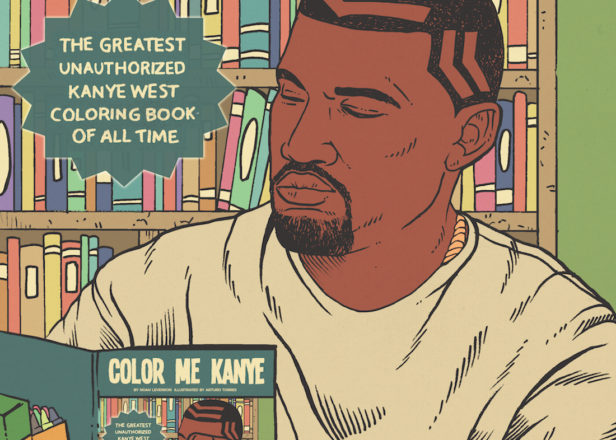 See Kanye stop an asteroid, take a balloon ride with Obama and more in this incredible coloring book