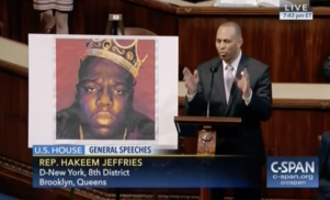 A New York congressman paid tribute to Biggie Smalls on the house floor