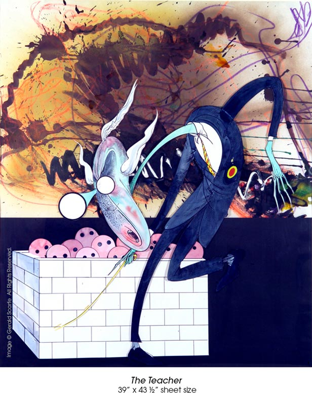 Pink Floyd The Wall Art original paintings from pink floyd's the wall go on sale for first