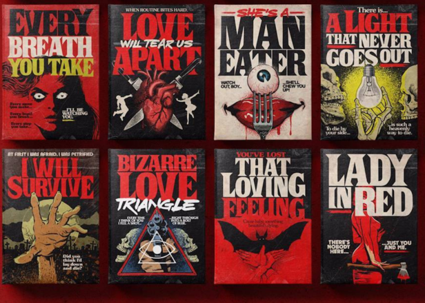 See songs by New Order, The Smiths and The Bee Gees reimagined as Stephen King book covers