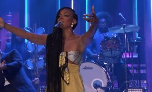 D∆WN joined Dirty Projectors and Tyondai Braxton on Fallon last night and it ruled