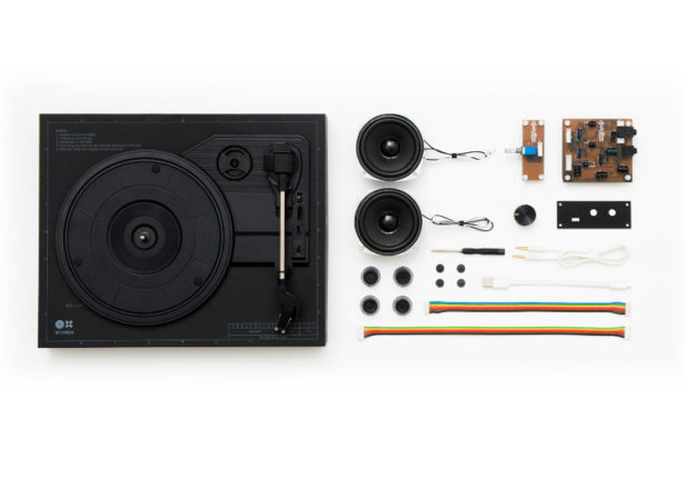 This kit lets you build your own turntable in 18 minutes