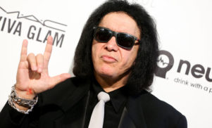 Gene Simmons files a patent for the devil horns hand gesture, hard rock officially dies