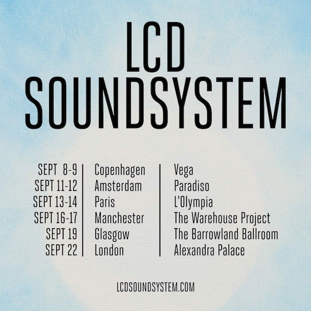 LCD Soundsystem Tour Dates