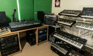 Step inside DMX Krew's amazing studio full of vintage synths