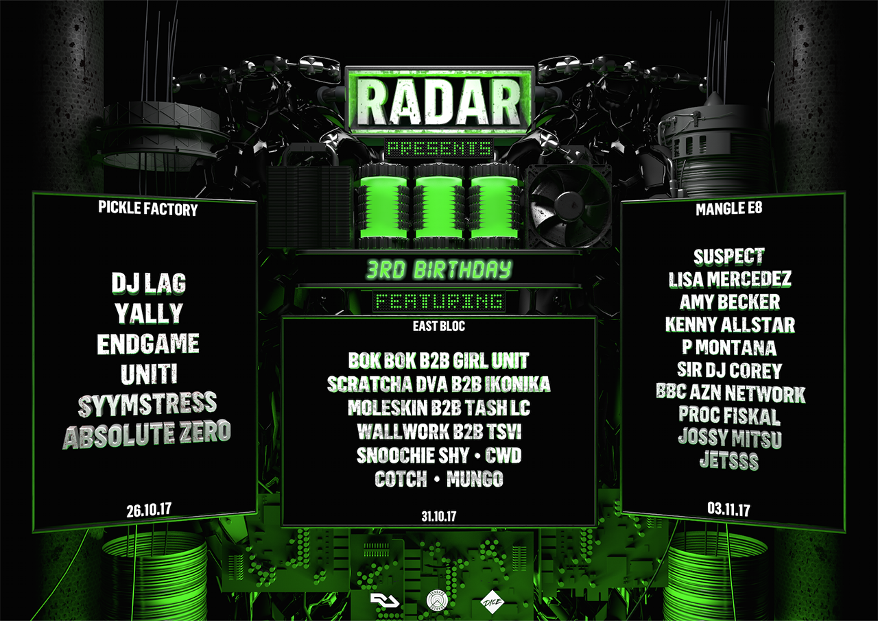Radar Radio to celebrate third birthday with Scratcha DVA, Ikonika and more