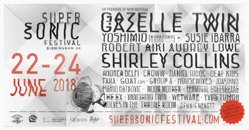 Moor Mother, Yves Tumor, Shirley Collins, The Ex to play Supersonic 2018