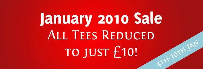 £10 January Sale