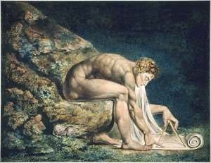 """Newton"" by William Blake (1795) [http://www.blakearchive.org]"