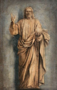 """""""Christ The Judge"""" by Laurent de La Hyre, c. 1650 [Musée du Louvre, Paris]"""