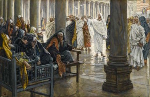 """Woe unto You, Scribes and Pharisees"" by J.J. Tissot, c. 1890 [Brooklyn Museum]"