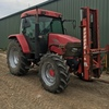 McCormick  CX 85 cab with burder forklift