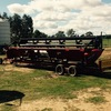 25FT CASE IH 2010 Header Front with Bat Reel and Trailer For Sale