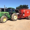Kuhn Mixer with John Deere 4250