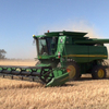 John Deere 9860 with JD 936D front - Machinery & Equipment