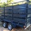 12 x 6 Tandem Trailer For Sale w Stock Crate