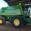 John Deere 9870 STS 4WD Header with 42ft Midwest Draper Front