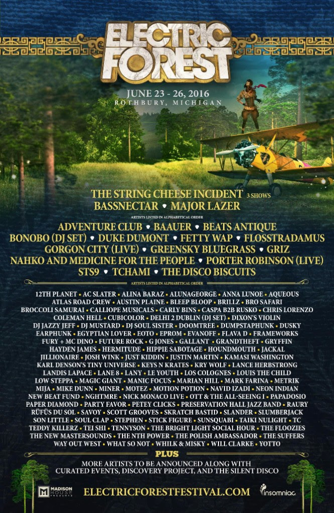 Electric Forest 2016 Initial Lineup