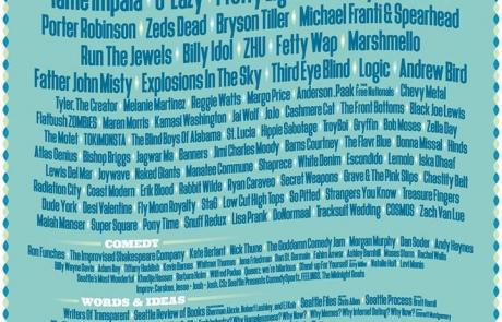 Bumbershoot Music Festival 2016 Lineup