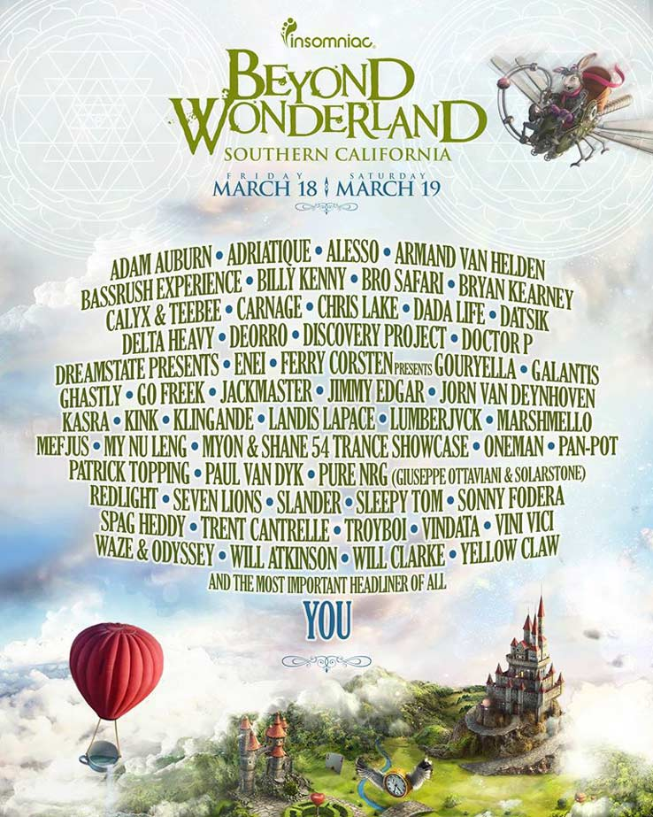 Beyond Wonderland SoCal 2016 Lineup