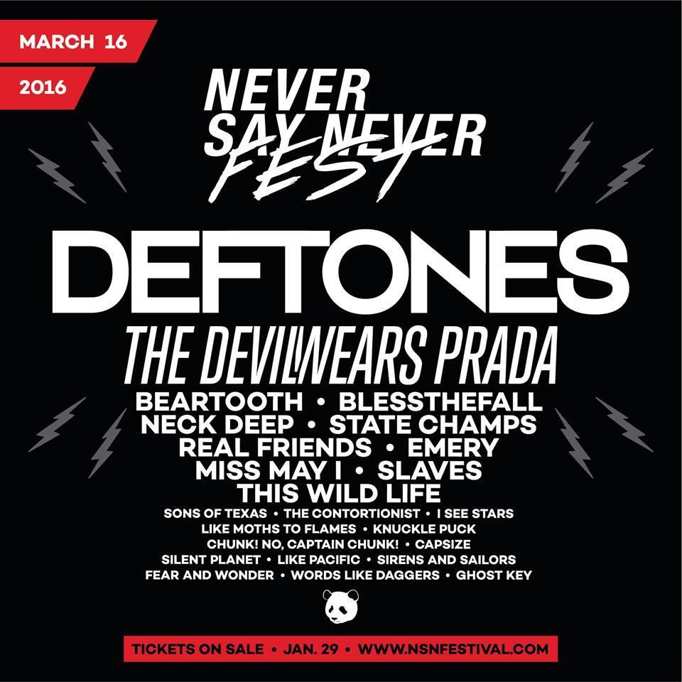 Never Say Never Festival 2016 Lineup