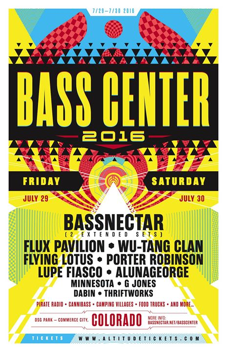 Bass Center 2016 Colorado Lineup