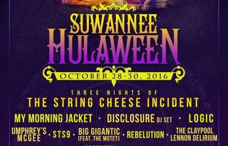 Suwannee Hulaween 2016 Lineup
