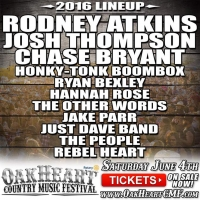 Oakheart Country Music Festival 2016 Lineup
