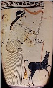 Artemis pouring a libation