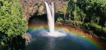 Waterfall, RAinbow Falls, Hawai'i, Hawaii
