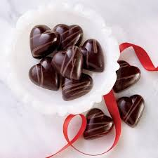 Happy Valentine's Day! Chocolate hearts