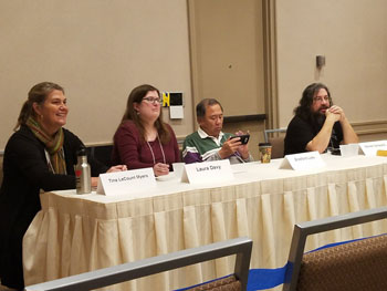 L to R: Tina LeCount, Laura Davey, Bradford Lyau, Steven Schwartz