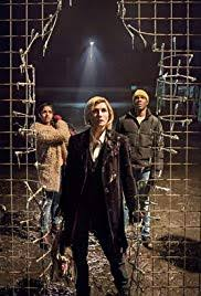 The 13th Doctor with Companions Yaz (l) and Ryan (r) (c)BBC America 2018