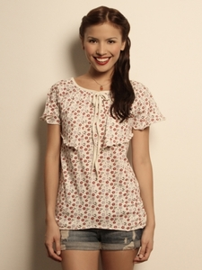 Micro Flower Print Top