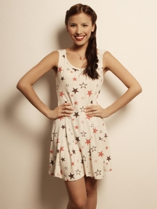 Star-Print Skater Dress
