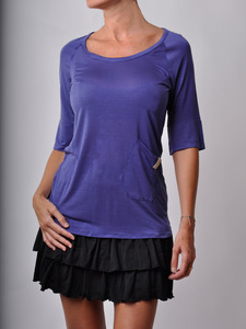 Lavender Top with Pocket